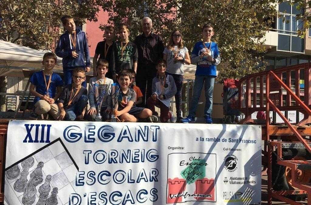 Primer premi XIII Gegant Torneig Escolar d'Escacs